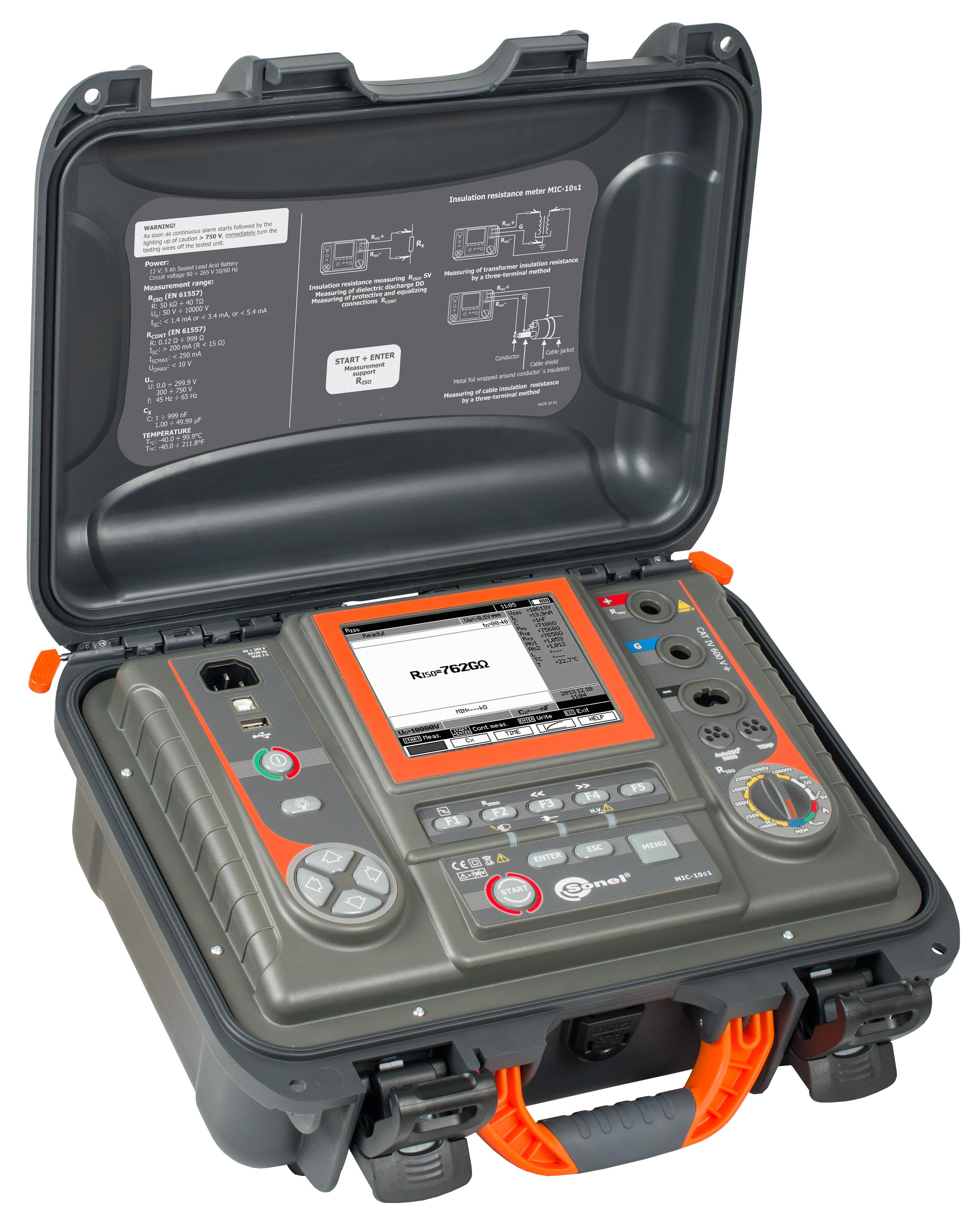 Mic 10 1kv Class Insulation Tester Sonel Test